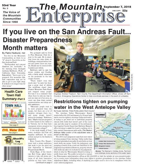 The Mountain Enterprise September 7, 2018 Edition