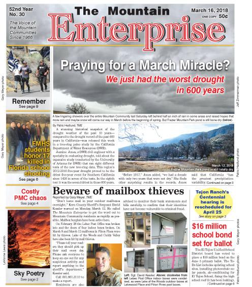 The Mountain Enterprise March 16, 2018 Edition