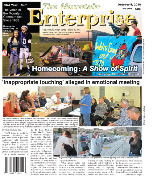 The Mountain Enterprise October 5, 2018 Edition