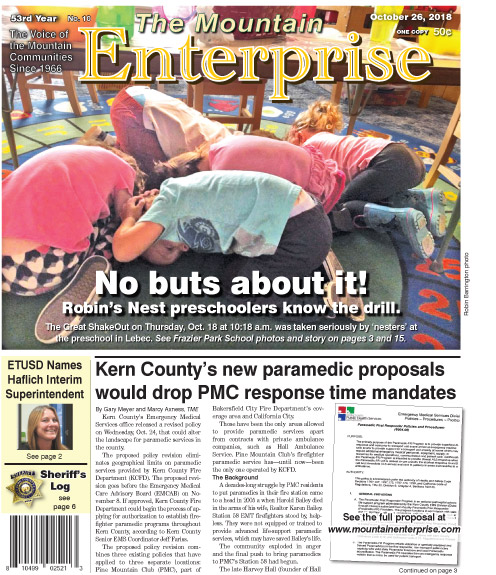 The Mountain Enterprise October 26, 2018 Edition