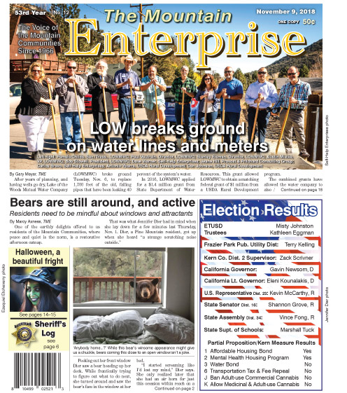 The Mountain Enterprise November 9, 2018 Edition