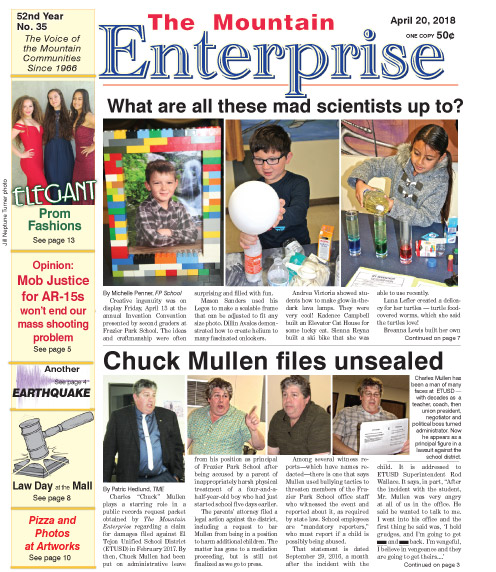 The Mountain Enterprise April 20, 2018 Edition