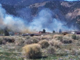 Donna Read's photo of the fire, viewed from Lockwood Valley Road.