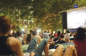 Free movies in parks across America have become a fun way to get together.