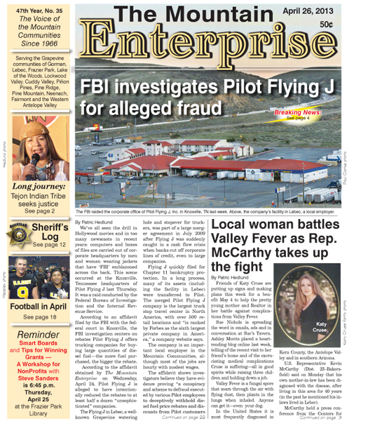 The Mountain Enterprise April 26, 2013 Edition